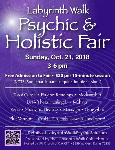 psychic holistic fair oct 21 2018